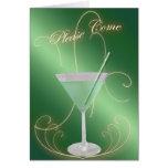 Viene por favor la invitación verde de Martini Tarjeta Pequeña