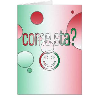 ¿Viene Sta? La bandera de Italia colorea arte pop Tarjeta Pequeña