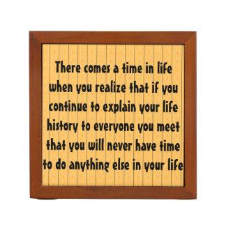 Viene una época en la vida en que usted realiza…