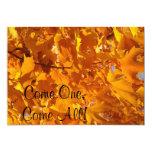 Viene uno viene todas las hojas de otoño de las invitaciones personales