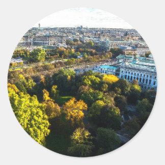 Vienna (A) Classic Round Sticker