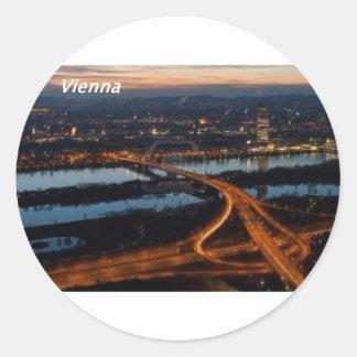 Vienna-at-night-[kan.k.JPG Classic Round Sticker