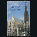 """Vienna Austria 2018 Calendar<br><div class=""""desc"""">13 photos of wonderful landmark with unforgettable moments for everyone who ever visited this fantastic city Wien: Stephansdom - St. Stephens Cathedral Grinzing - famous for drinking wine Prater Riesenrad Giant Wheel Freyung Castle Belvedere Johann Strauss Statue at Stadtpark Spittelau Incinerating Plant designed by Friedensreich Hundertwasser Gloriette in Park of...</div>"""