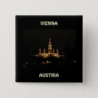 Vienna, Austria at Night Button