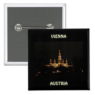 Vienna, Austria at Night Pinback Buttons