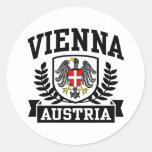 Vienna Austria Classic Round Sticker