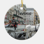 Vienna Austria Double-Sided Ceramic Round Christmas Ornament