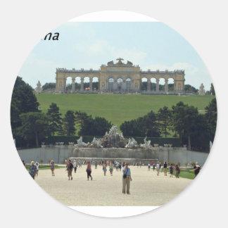 Vienna-  Austria-[kan.k].JPG Classic Round Sticker