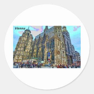 Vienna--Austria-[kan.k]-.JPG Classic Round Sticker
