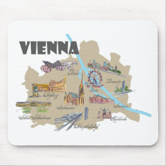 Vienna Austria Map Overview Mouse Pad