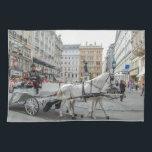 "Vienna Austria Towel<br><div class=""desc"">Hansome Cab -  horse-drawn carriage,  in lovely Vienna</div>"