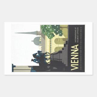 Vienna Austria - Vintage Travel Rectangular Sticker