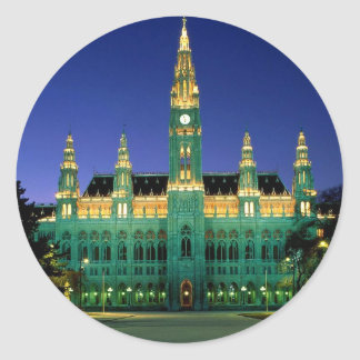 vienna-city-hall--[kan.k].JPG Classic Round Sticker