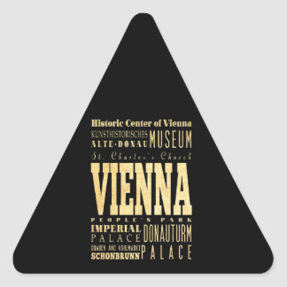 Vienna City of Austria Typography Art Triangle Sticker