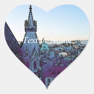 Vienna City, toony (A) Heart Sticker