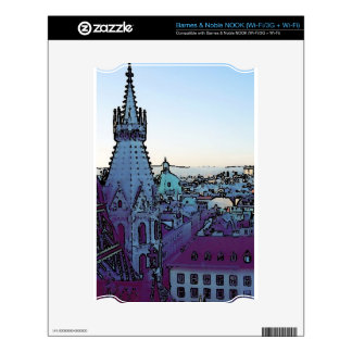 Vienna City, toony (A) Skin For The NOOK