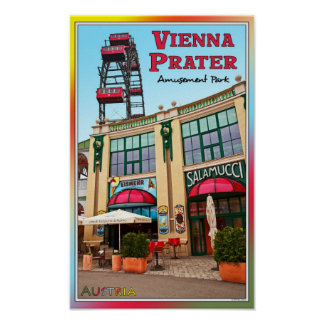 Vienna - Colorful Prater Park Poster