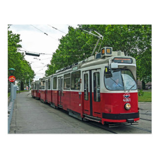 Vienna electric streetcar 2014 postcard