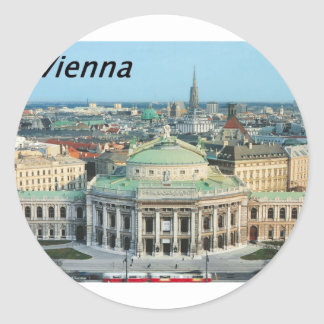 Vienna-Opera-House-.jpg Classic Round Sticker