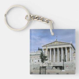Vienna Parliament Square Acrylic Keychain