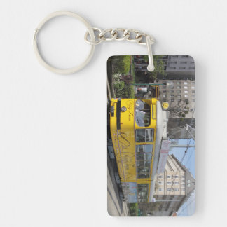 Vienna Ring Tram Double-Sided Rectangular Acrylic Keychain