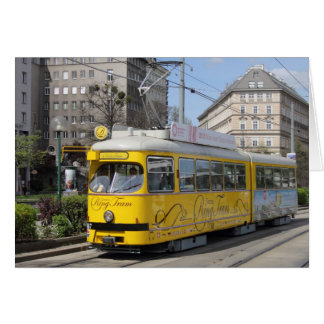 Vienna Ring Tram Greeting Card