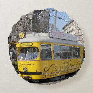 Vienna Ring Tram Round Pillow