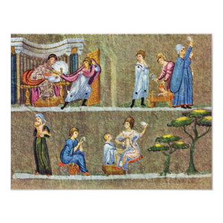 Vienna Scene Genesis: Joseph And The Wife Of Potip 4.25x5.5 Paper Invitation Card