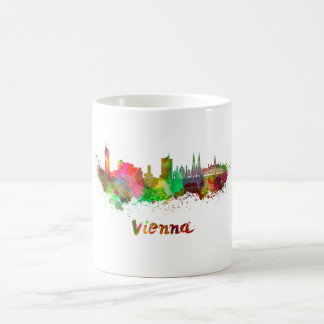 Vienna skyline in watercolor coffee mug