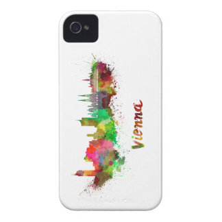 Vienna skyline in watercolor Case-Mate iPhone 4 protectores