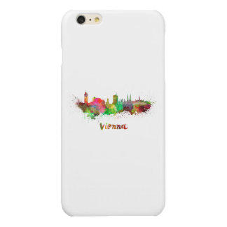 Vienna skyline in watercolor glossy iPhone 6 plus case