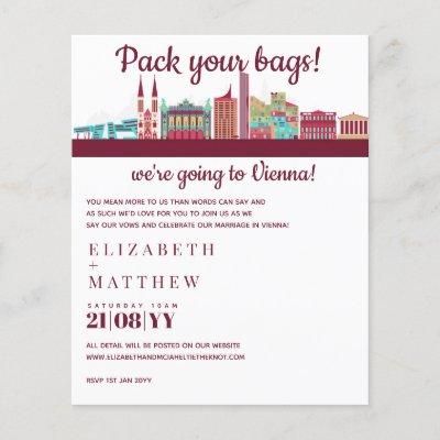 VIENNA Skyline Wedding Invitation Handdrawn Budget