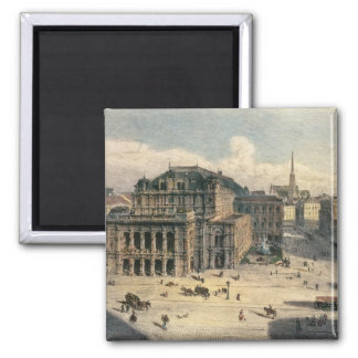 Vienna State Opera House, c.1869 2 Inch Square Magnet