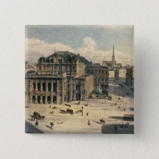 Vienna State Opera House, c.1869 Pinback Button