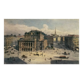 Vienna State Opera House c 1869 Print