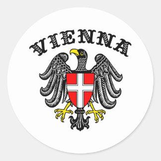 Vienna Round Sticker
