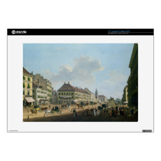"Vienna, the promenade, 1824 (oil on canvas) 15"" laptop skins"