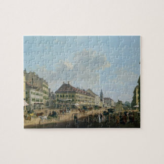 Vienna, the promenade, 1824 (oil on canvas) jigsaw puzzle