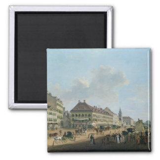 Vienna, the promenade, 1824 (oil on canvas) magnet