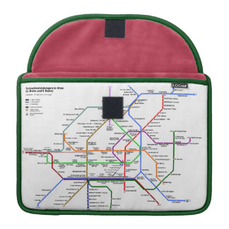 Vienna tube map Rickshaw Flap Sleeves For MacBooks