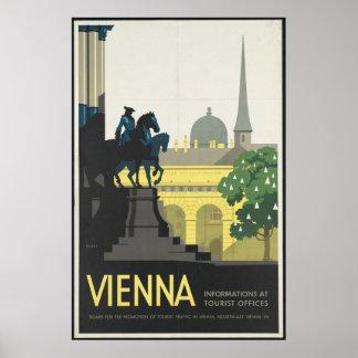 Vienna Vintage Travel Poster Ad Retro Prints