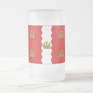 Vienne flag frosted glass beer mug
