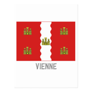 Vienne flag with name postcard