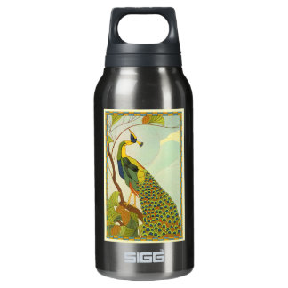 Viennese Art Nouveau Peacock Insulated Water Bottle