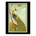 Viennese Art Nouveau Peacock Postcard
