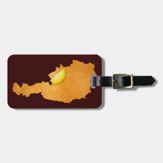 Viennese Schnitzel - Map Of Austria Bag Tag