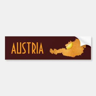 Viennese Schnitzel - Map Of Austria Car Bumper Sticker