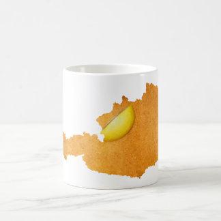 Viennese Schnitzel - Map Of Austria Coffee Mug