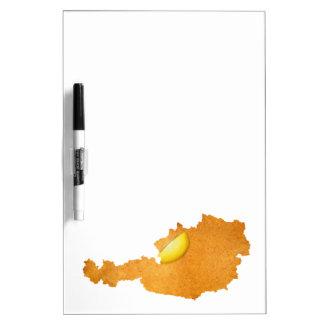 Viennese Schnitzel - Map Of Austria Dry-Erase Board