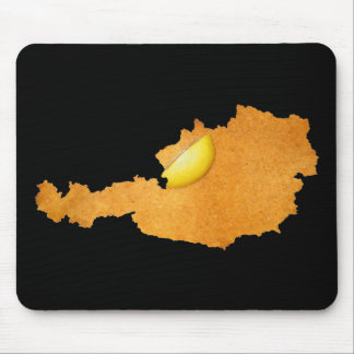 Viennese Schnitzel - Map Of Austria Mouse Pad
